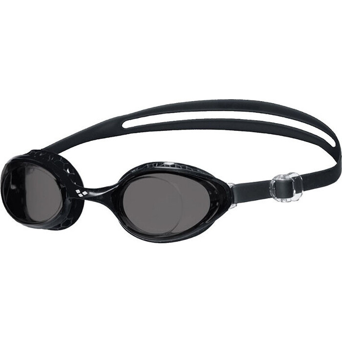 Очки для плавания Arena Airsoft арт. 003149550, дымчатые линзы, нерег.перен., черная оправа