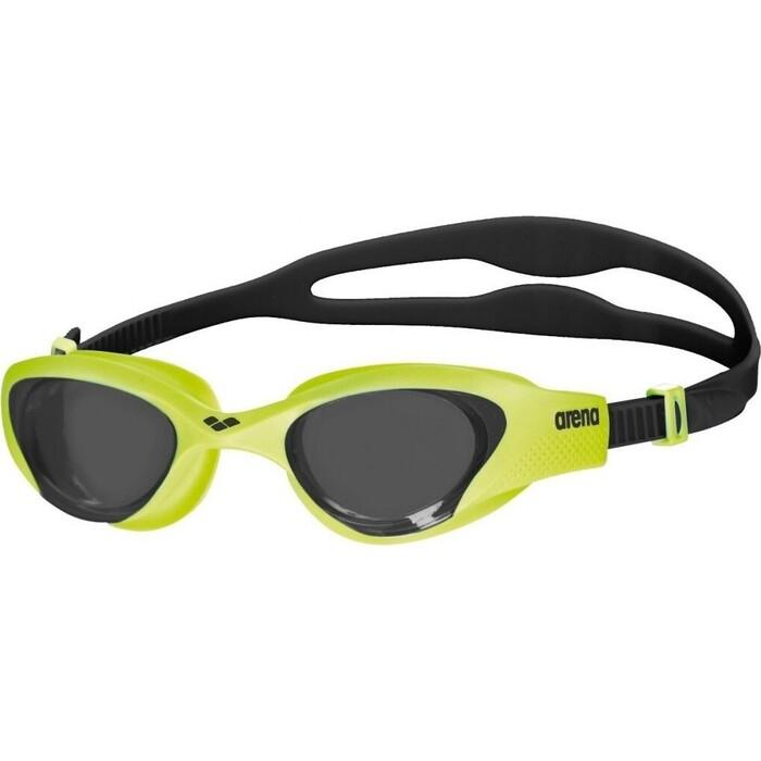 Очки для плавания Arena The One арт. 001430565, дымчатые линзы, нерег.перен., зелено-черная оправа очки велосипедные kellys projectile оправа белый глянец линзы поляризационные дымчатые