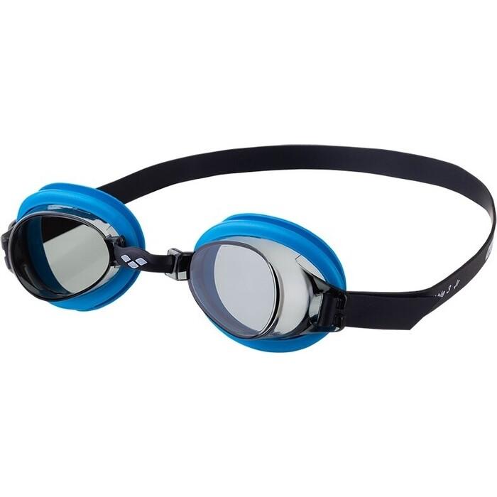 Очки для плавания Arena Bubble 3 Jr арт. 9239575, дымчатые линзы, регул. перенос., синяя. оправа
