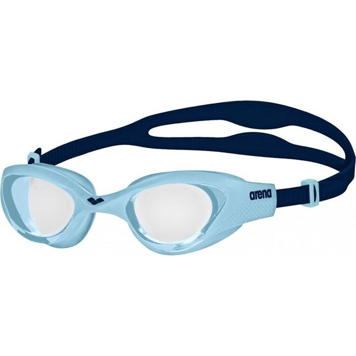 Очки для плавания Arena The One Jr арт. 001432177, прозрачные линзы, нерег.перен., голубо-синяя оправа