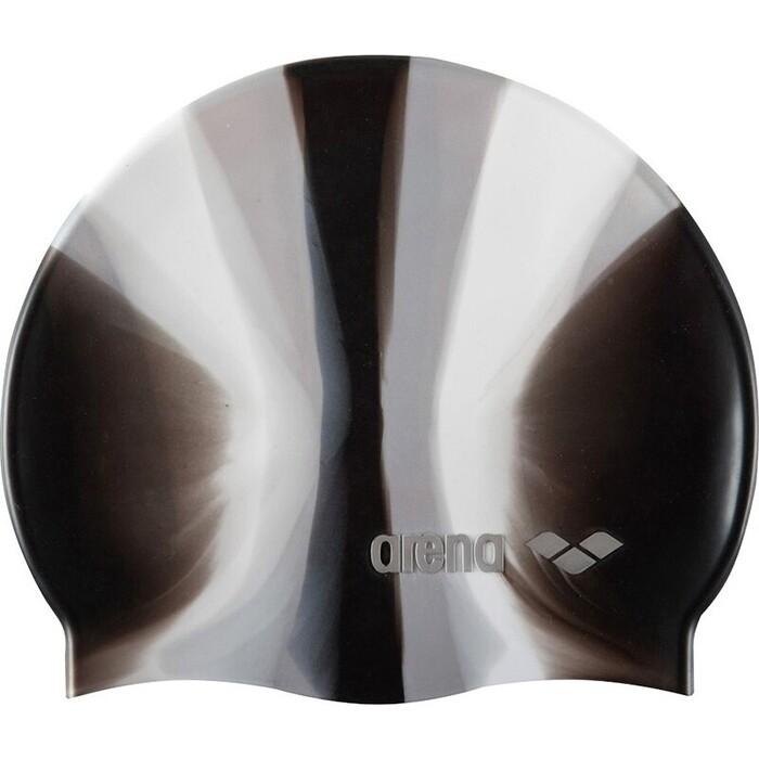 Шапочка для плавания Arena Pop Art арт. 9165923, черно-белый, силикон