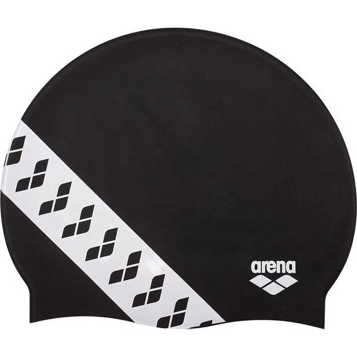 Шапочка для плавания Arena Team Stripe Cap арт. 001463501, черный, силикон