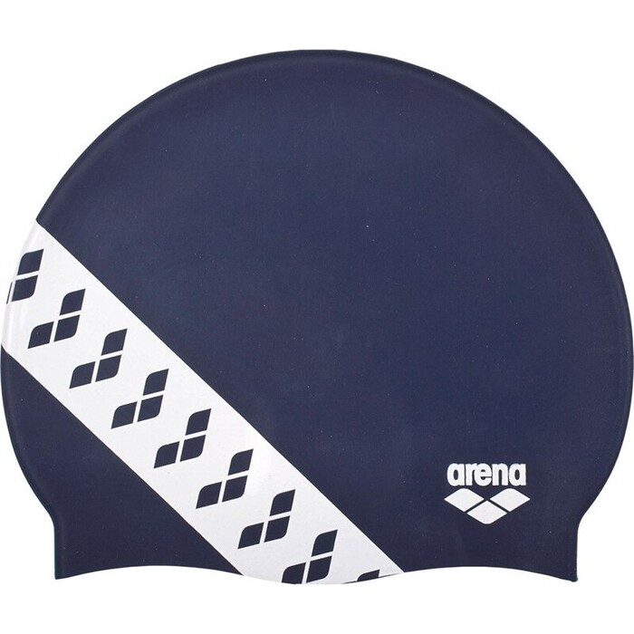 Шапочка для плавания Arena Team Stripe Cap арт. 001463701, Темносиний, силикон