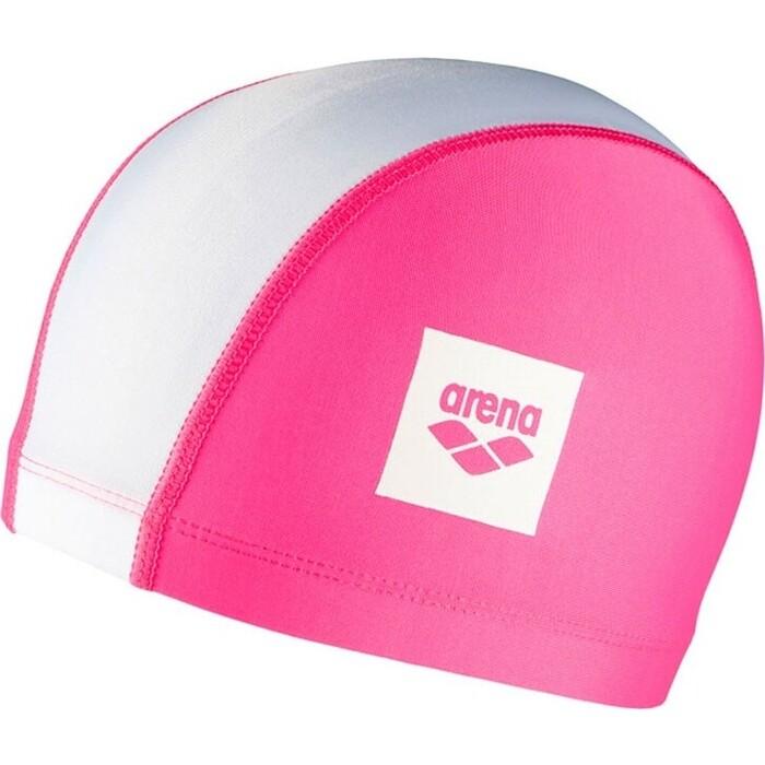 Шапочка для плавания Arena Unix Ii Jr Дет, арт. 002384105, розово-белый, полиамид/эласт, 3 панели
