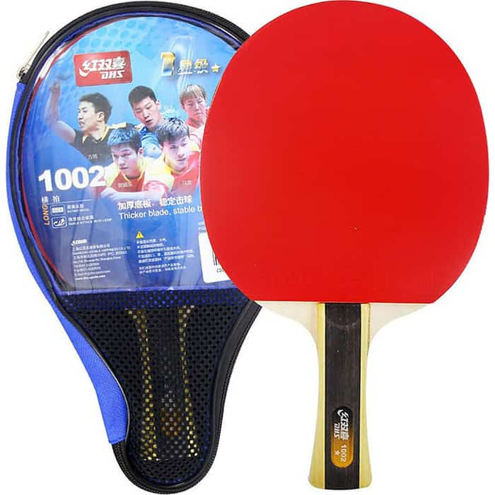 Ракетка для настольного тенниса DHS T1002, 1* звезда, начинающих игроков, накладка 1,8 мм, кон. ручка