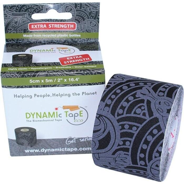 Тейп динамический Dynamic Tape ECO, арт. DT50TTEB, шир. 5 см, дл. м, черный/серое тату