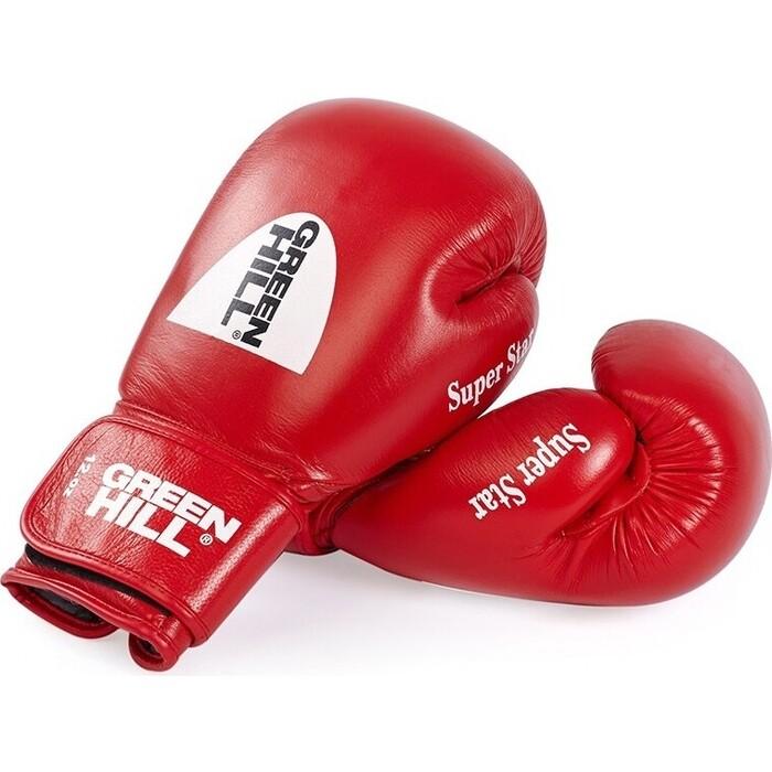 Перчатки боксерские GREEN HILL SUPER STAR арт. BGS-1213c-12-RD, 12 oz, нат. кожа, красные
