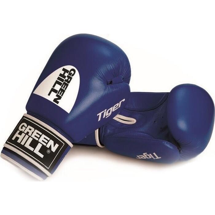 Перчатки боксерские GREEN HILL TIGER арт. BGT-2010c-10-BL, 10 oz, натуральная кожа, синий