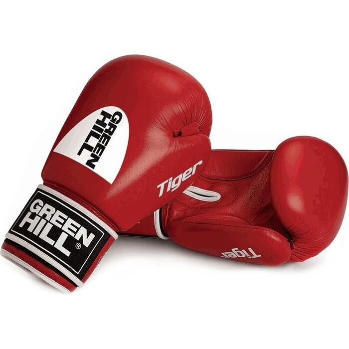 Перчатки боксерские GREEN HILL TIGER арт. BGT-2010c-10-RD, 10 oz, натуральная кожа, красные