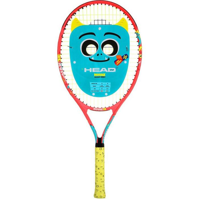 Ракетка для большого тенниса Head Novak 25 Gr07, арт. 233500, 8-10 лет, алюм., со струнами, красн-сине-желтый