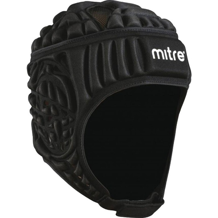 Шлем для регби Mitre Siedge, арт. T21710-BK-S, р. S, полиэстер, нейлон, пена EVA, черный