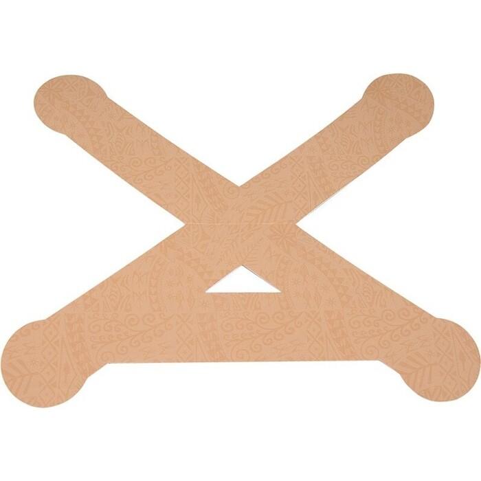 Тейп динамический PosturePals X tape, арт. PP-X-TL, преднарезка, р. L, 5 шт. в уп., телесный