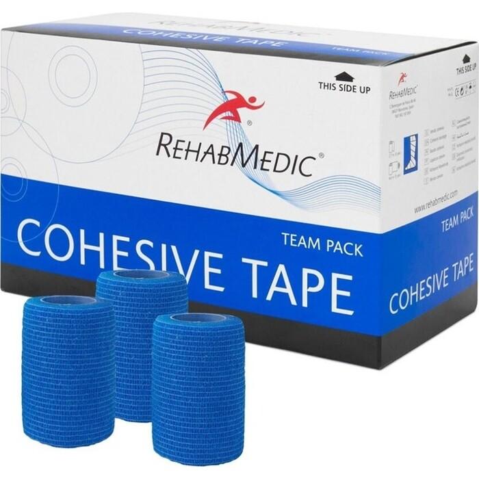 Тейп Rehab Cohesive Tape, арт. RMV0213BL, поливискоза, 7.5см x 4.6м, уп. 20 шт, син
