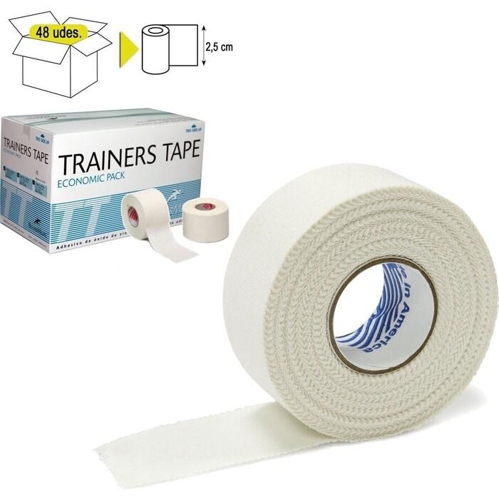 Тейп Rehab Trainers Tape, арт. TT01, хлопок, полиэстер, 2.5 см x 10 м, уп. 48 шт, белый