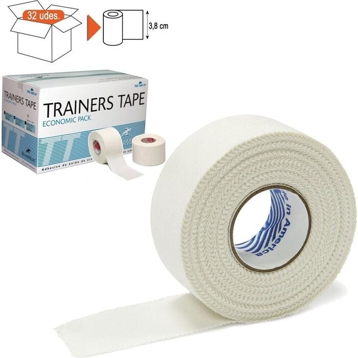 Тейп Rehab Trainers Tape, арт. TT02, хлопок, полиэстер, 3.8 см x 10 м, уп. 32 шт, белый