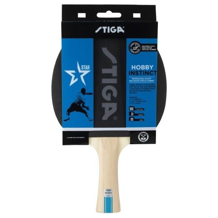 Ракетка для настольного тенниса Stiga Hobby Instinct, арт. 1210-6318-01, начин., накл. 1,5 мм ITTF, конич. ручка
