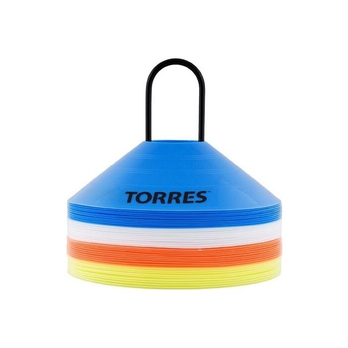 Фишки для разметки поля Torres арт. TR1006, усеч. конусы, пластик, комп. из 40 шт, 4 цвета