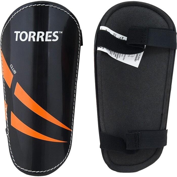 Щитки Torres арт. FS1607S, р. S, без голеностопа, две заст. на лип, черно-оранж-белый