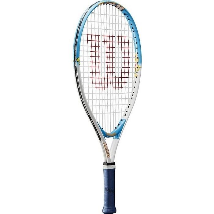 Ракетка для большого тенниса Wilson SLAM 21, арт. WRT20380U, 6-5 лет,алюминий,со струнами, желто-оранжевая