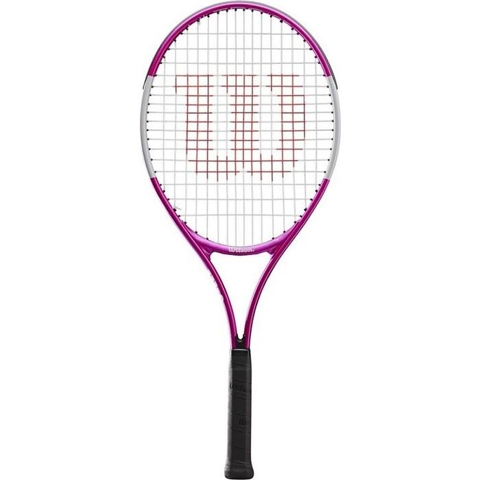 Ракетка для большого тенниса Wilson Ultra Pink25 GR00, арт. WR027810U, 9-10 лет, алюминий,со струнами,роз-бел-черн