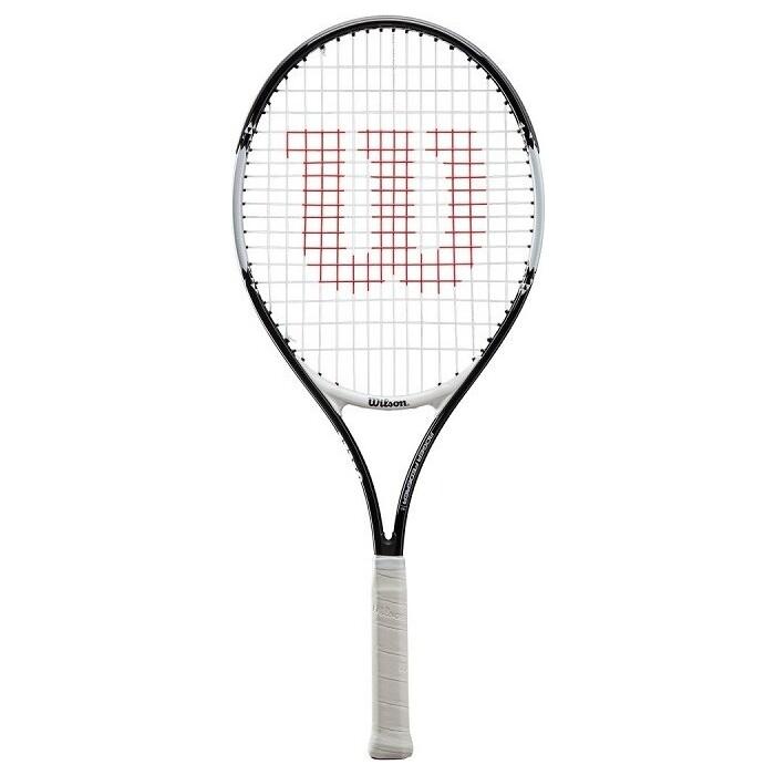 Ракетка для большого тенниса Wilson Roger Federer 23 Gr0000, арт. WR028410U, 7-8 лет, любит, со струн, бело-черн