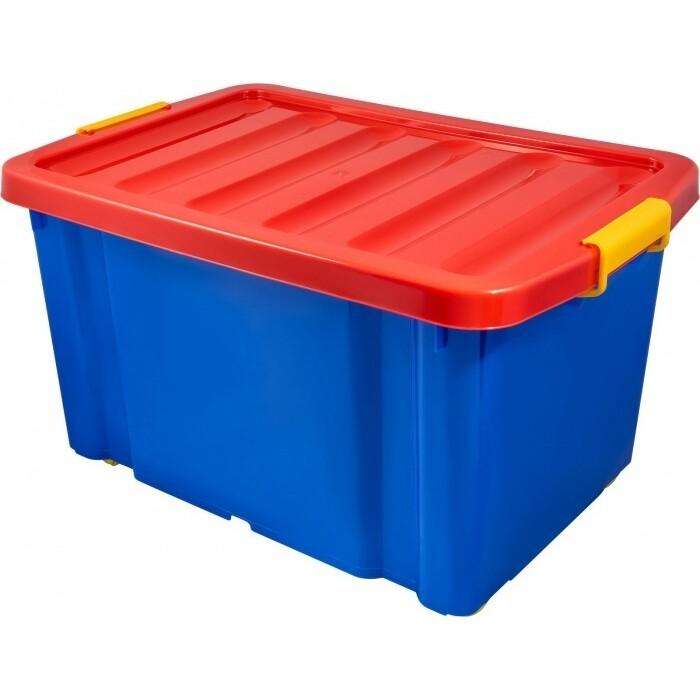 Ящик на роликах Plast Team Jumbo 60л синий
