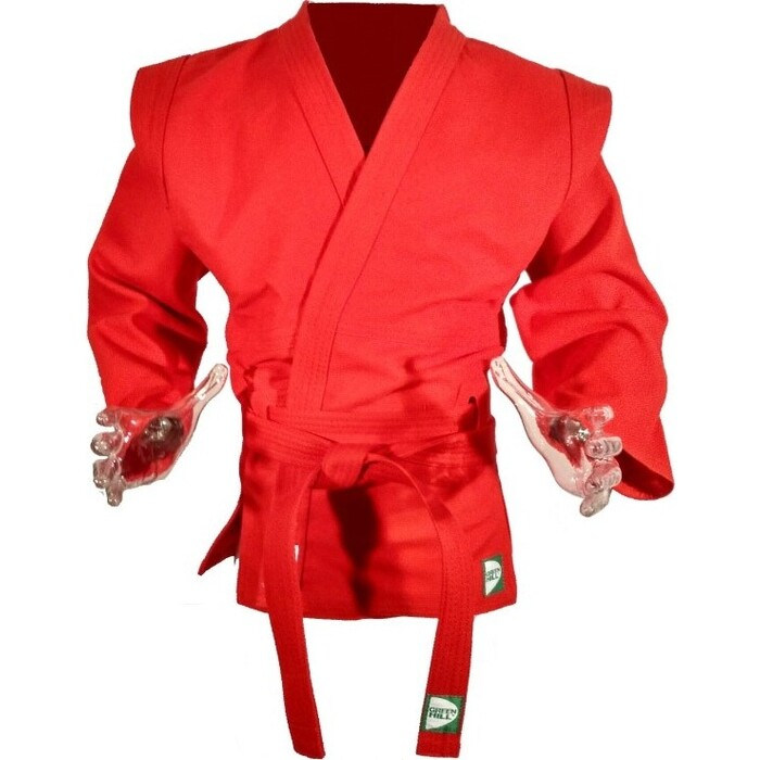 Куртка для самбо GREEN HILL арт. SC-550-50-RD, р. 50, одоб FIAS, 100% хлопок, красная