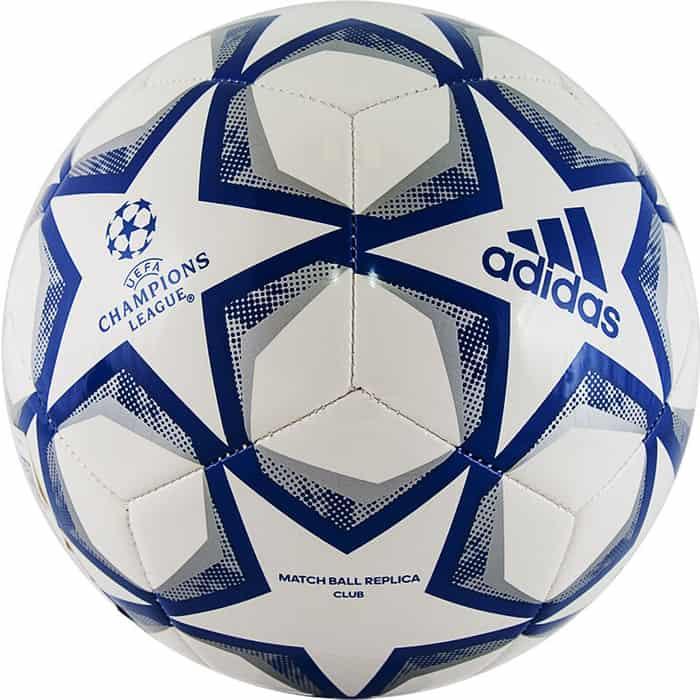 Мяч футбольный Adidas Finale 20 Club арт. FS0250, р. 5, ТПУ, 12 пан., маш.сш., бело-синий