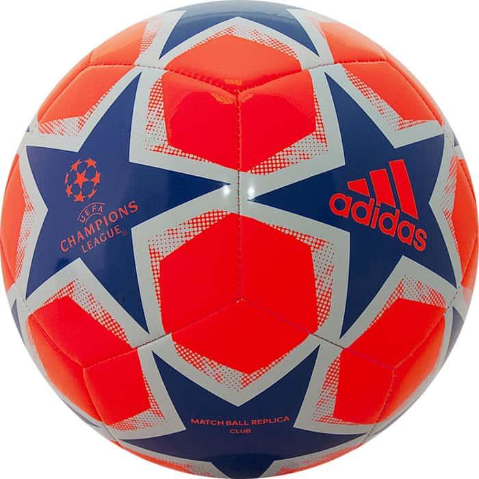 Мяч футбольный Adidas Finale 20 Club арт. FS0251, р. 4, ТПУ, 12 пан., маш.сш., оранжево-синий