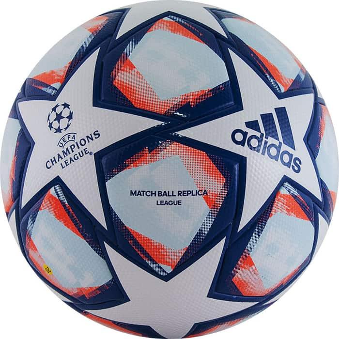 Мяч футбольный Adidas Finale 20 Lge арт. FS0256, р. 5, ТПУ, 32 пан., термош, бело-синий