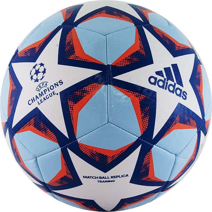 Мяч футбольный Adidas Finale 20 Training арт. GI8597, р. 5, 12п, ТПУ, маш.сш, бело-синий