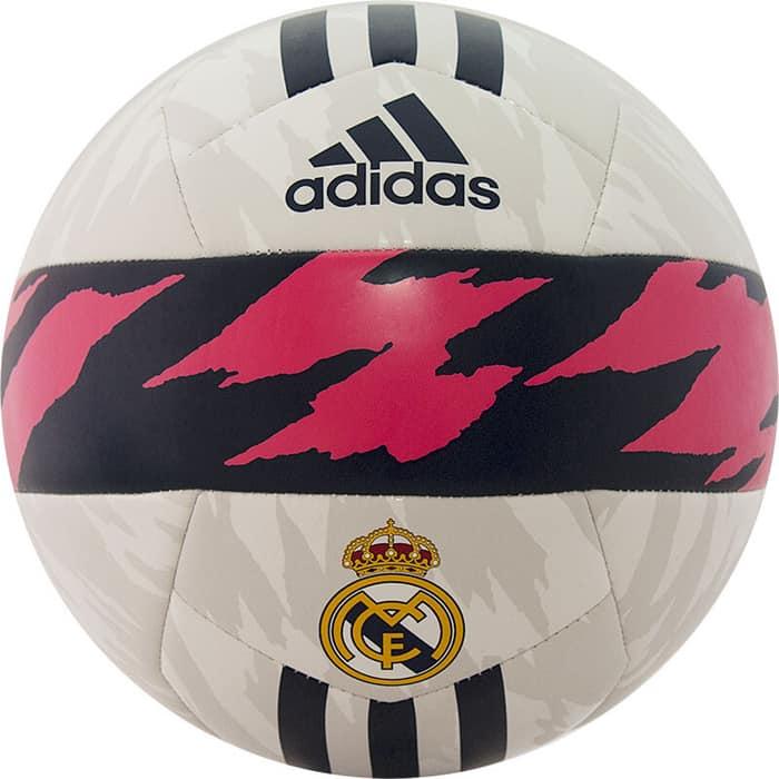 Мяч футбольный Adidas RM Club арт. FS0284, р. 5, ТПУ, 14 пан., маш.сш., бело-т.сине-розовый
