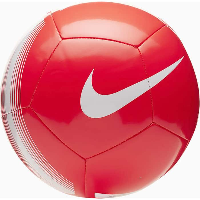 Мяч футбольный Nike Pitch Team , арт. SC3992-610, р. 5, 12 пан,гл.ТПУ, маш. сш., бут. кам, кораллово-белый