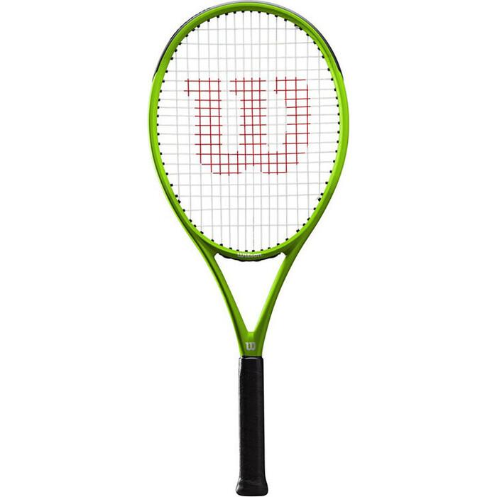 Ракетка для большого тенниса Wilson Blade Feel Pro, артWR018810U2, любителей, со струнами, зеленый