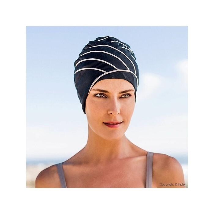 Шапочка для плавания Fashy Exclusive swimcap , арт. 3428, полиамид, эластан, черно-бежевый