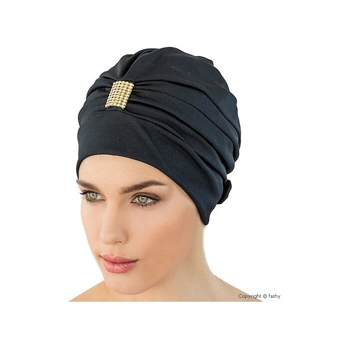 Шапочка для плавания Fashy Exclusive swimcap , арт. 3498, полиэстер, черно-золотой