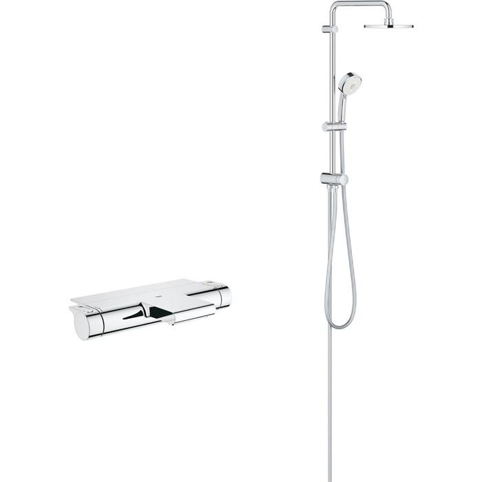Термостат для ванны Grohe Grohtherm 2000 с душевым гарнитуром, хром (34464001, 27394002)