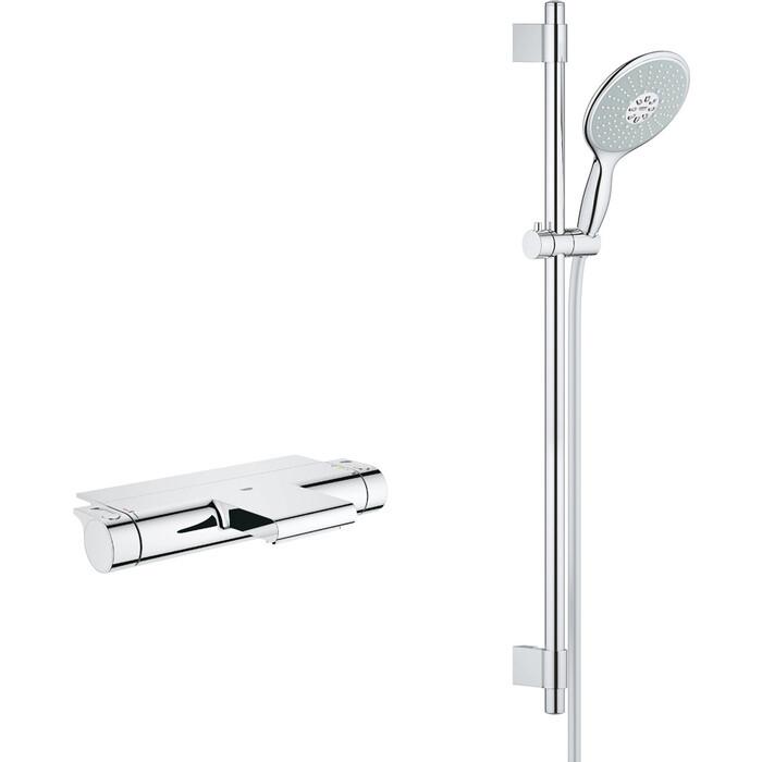 Термостат для ванны Grohe Grohtherm 2000 с душевым гарнитуром, хром (34464001, 27750000)