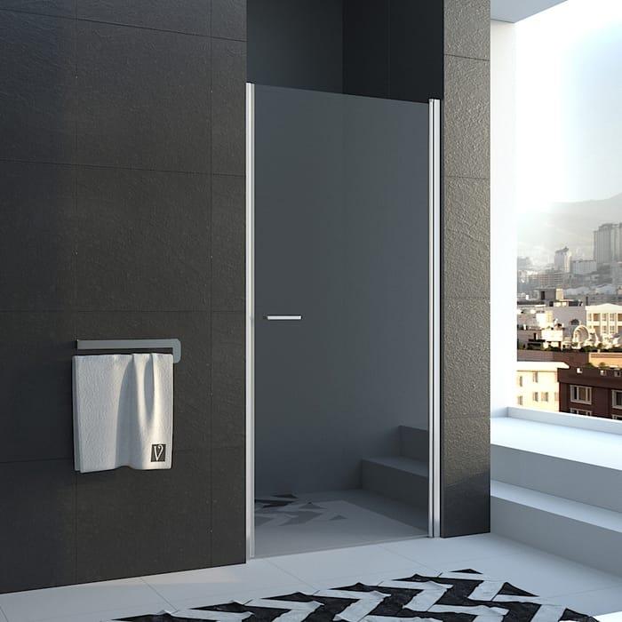 Душевая дверь Veconi Vianno 80x195 стекло прозрачное, профиль хром (VN43-80-01-19C1)