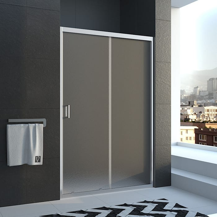 Душевая дверь Veconi Vianno 130x185 стекло рифленое Pear, профиль хром (VN46-130-02-19C1)