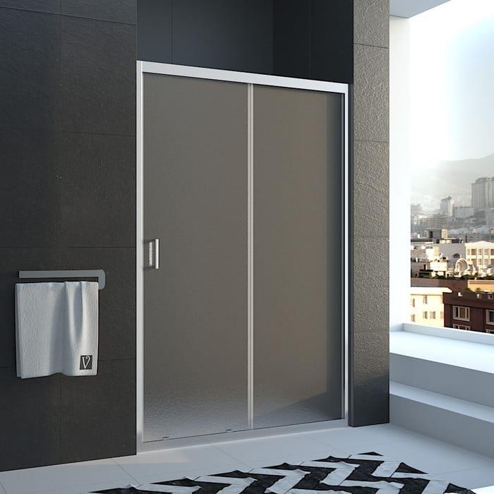 Душевая дверь Veconi Vianno 140x185 стекло рифленое Pear, профиль хром (VN46-140-02-19C1)