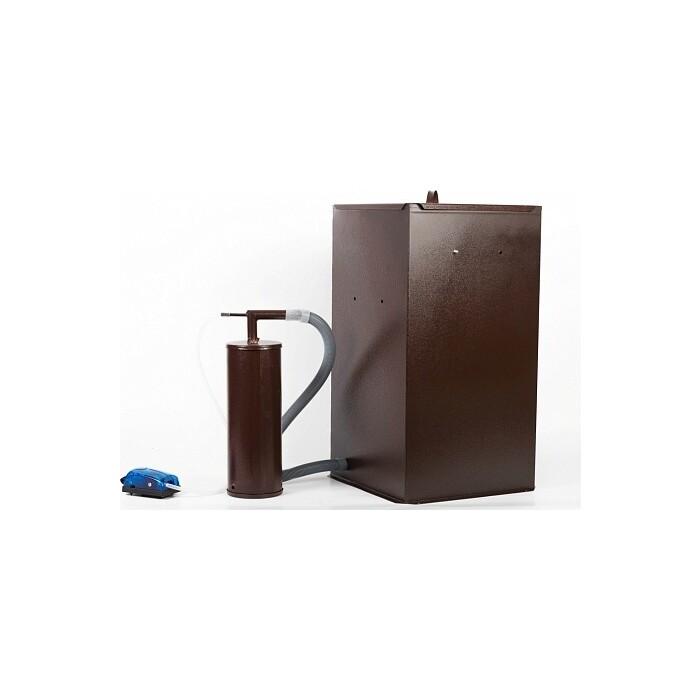 Коптильня Дым Дымыч бытовая холодного копчения модель 01Б - дымогенератор + емкость для бол
