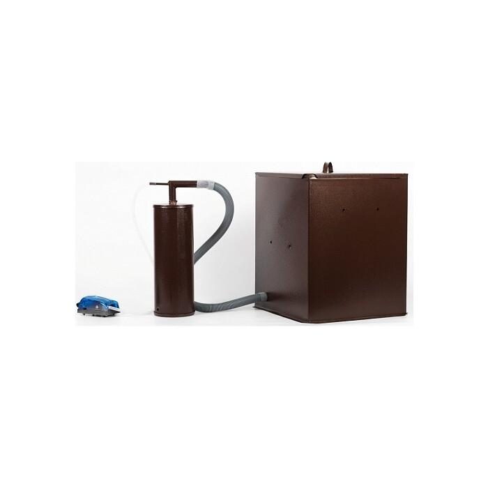 Коптильня Дым Дымыч бытовая холодного копчения модель 01М - дымогенератор + емкость для мал