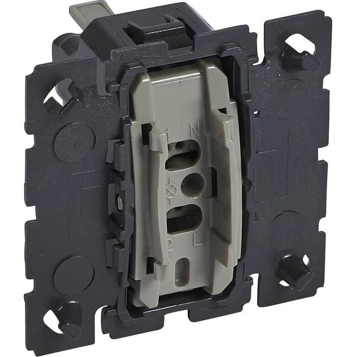 Выключатель Legrand кнопочный одноклавишный Celiane 6A 230V с подсветкой 067032