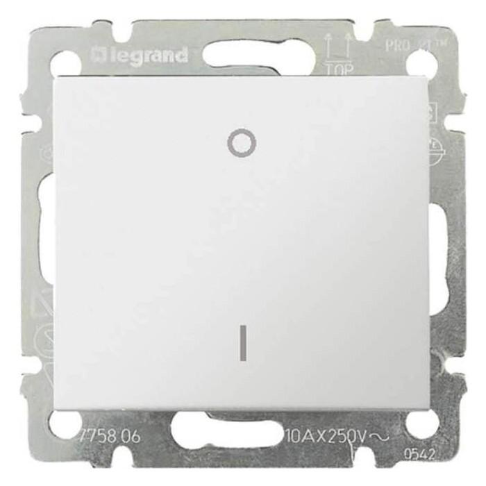 Выключатель Legrand одноклавишный трехполюсный Valena 10A 400V белый 774403