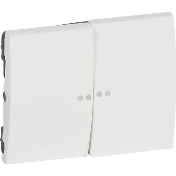 Клавиша Legrand Galea Life выключателя двойная с индикацией белая 771079