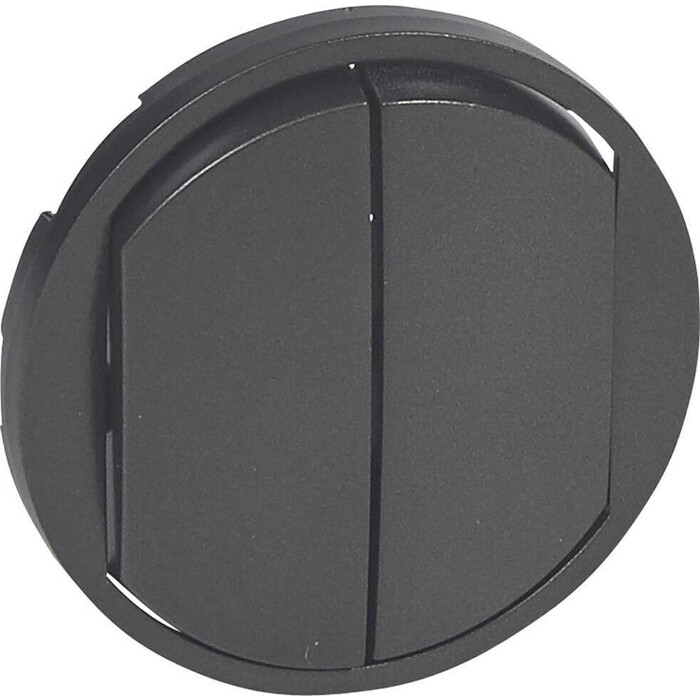 Лицевая панель Legrand Celiane выключателя двухклавишного графит 067902