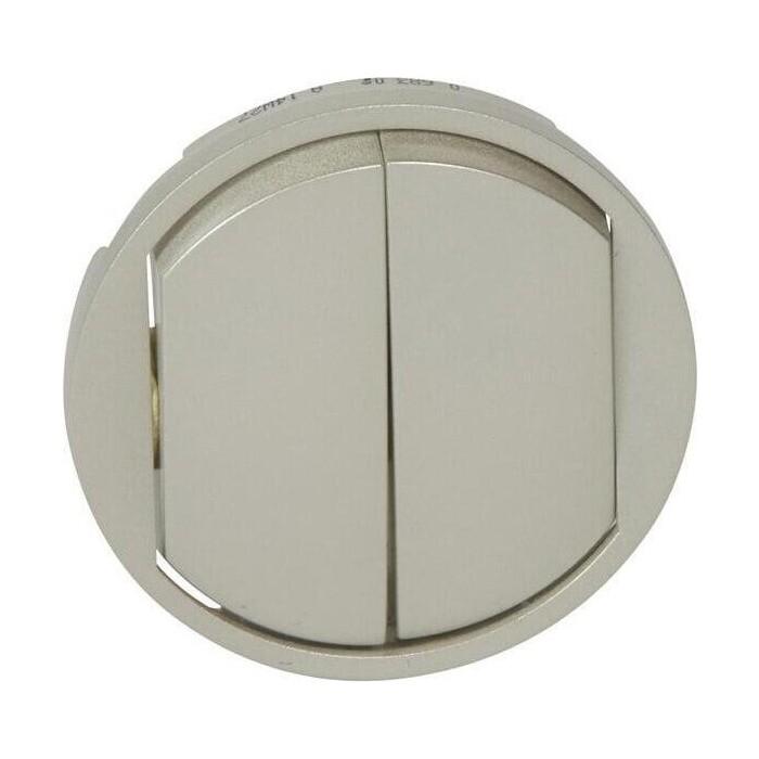 Лицевая панель Legrand Celiane выключателя двухклавишного титановая 068302