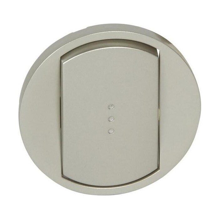 Лицевая панель Legrand Celiane выключателя с подсветкой титановая 068303