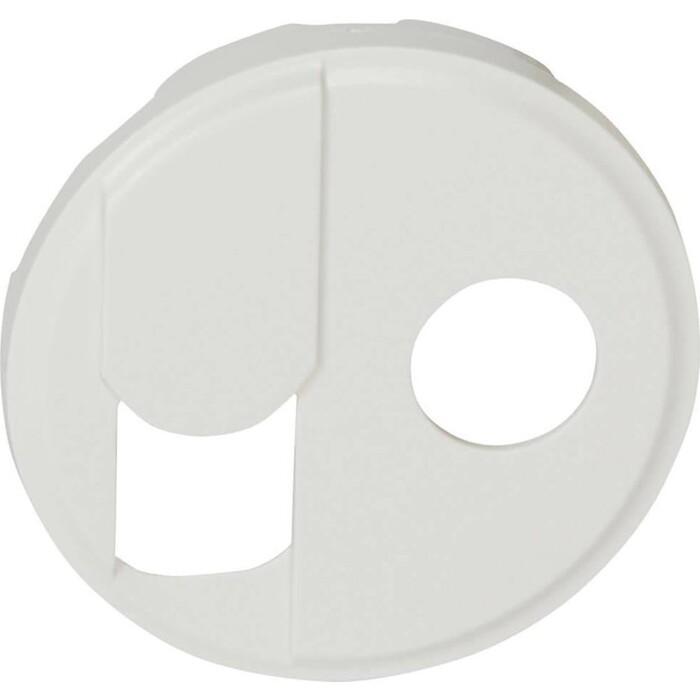 Лицевая панель Legrand Celiane розетки RJ45+TV тип F белая 068239